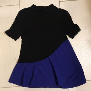 Black and Blue French Connection Top